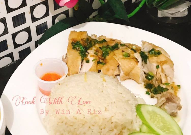 Resep: Hainanese chicken rice / Nasi Ayam