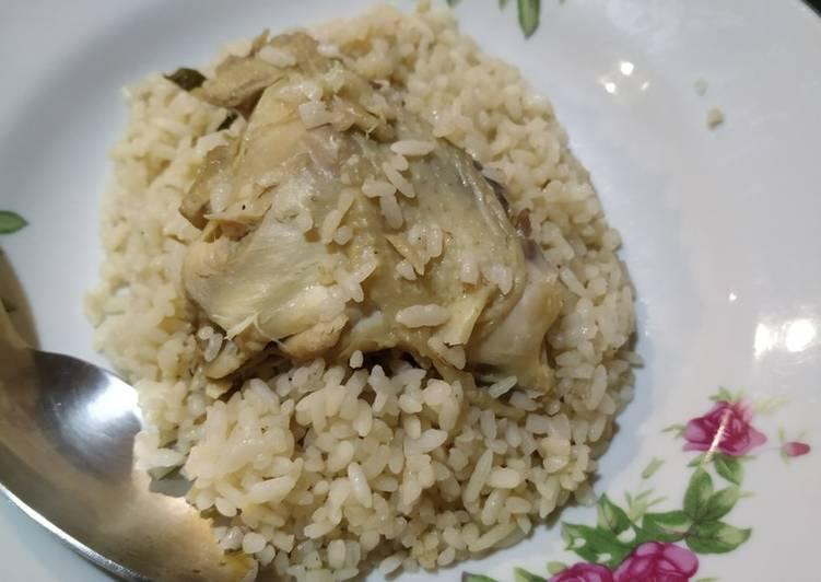 Resep: Hainan chicken rice ricecooker