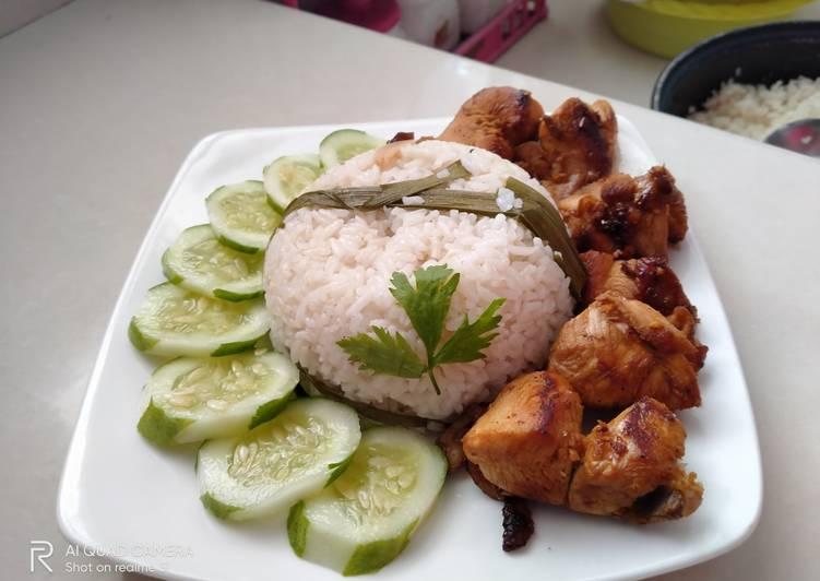 Cara membuat Hainan chicken rice lezat