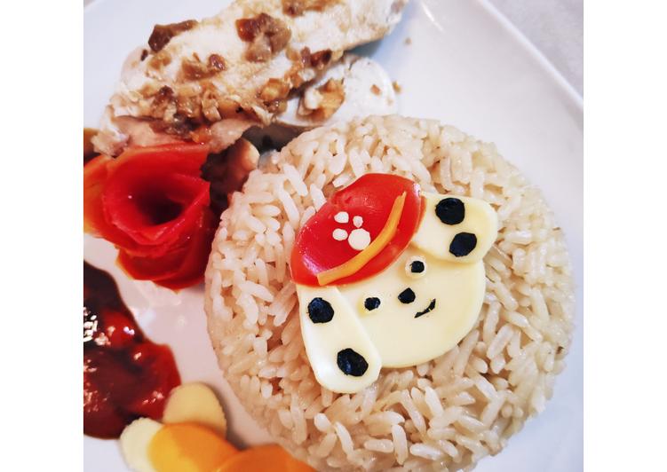 Resep: Homemade bento - Hainam chicken rice
