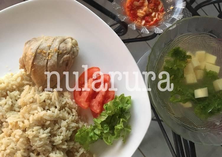 Resep: Hainan chicken rice istimewa