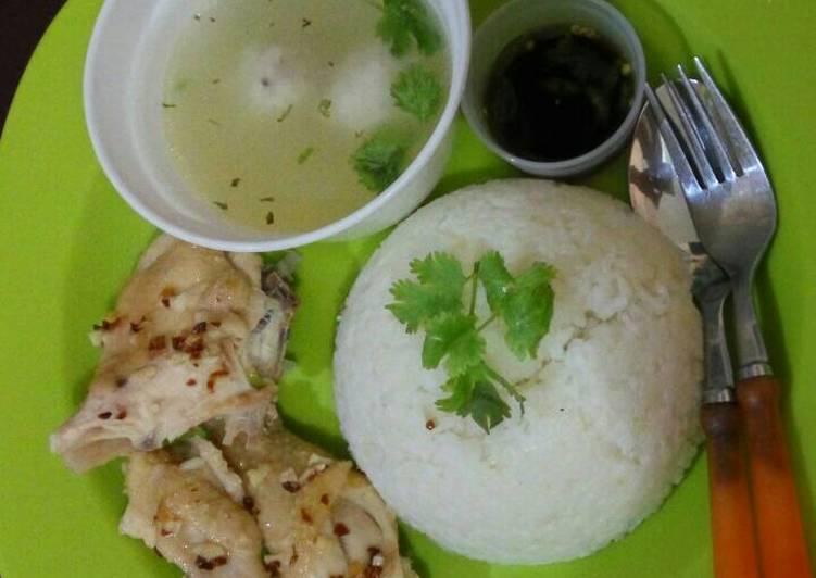 Resep memasak Nasi ayam hainan (Hainan chicken rice) enak