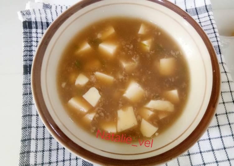 Resep mengolah Mpasi 1y+ mapo tofu