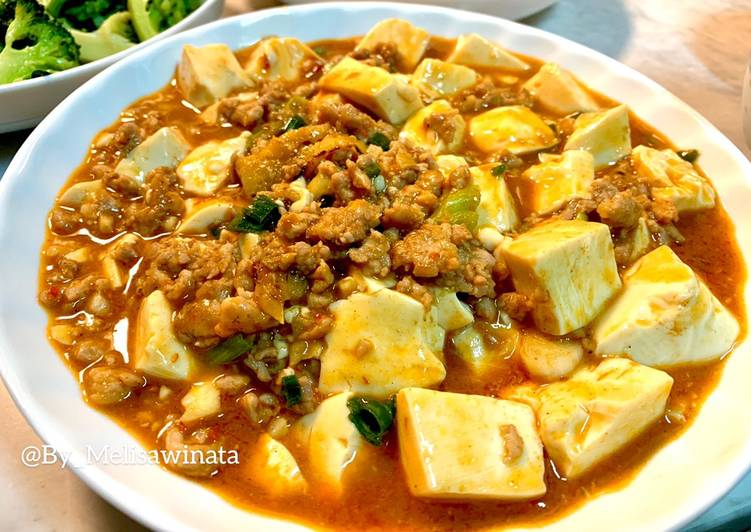 Resep: Mapo tofu/tahu pedas istimewa