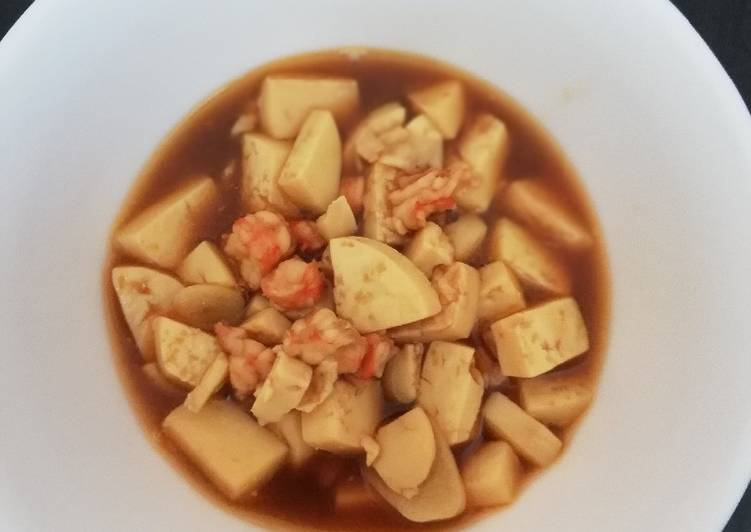 Resep membuat Mapo tofu udang(mpasi 1+)