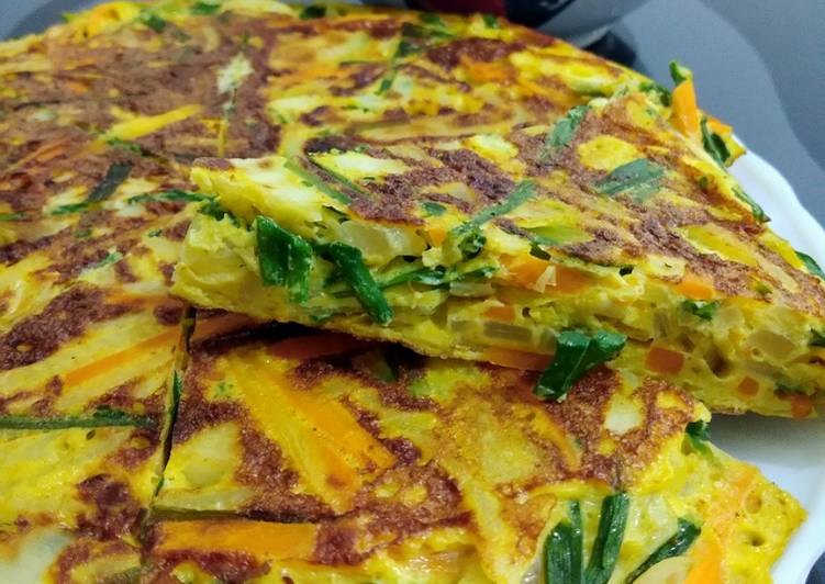 Cara mengolah Fuyunghai isi Sayuran lezat