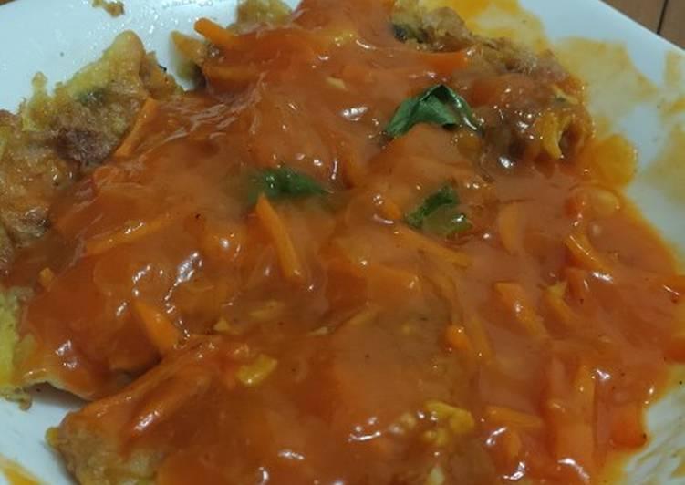 Resep: Telur dadar asam manis (simpel fuyunghai)
