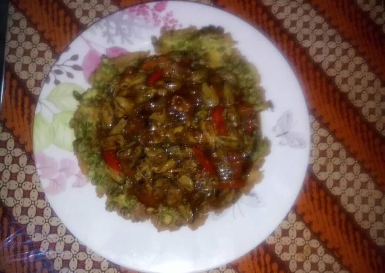 Cara Mudah membuat Fuyunghai saus kerang hijau 3in1