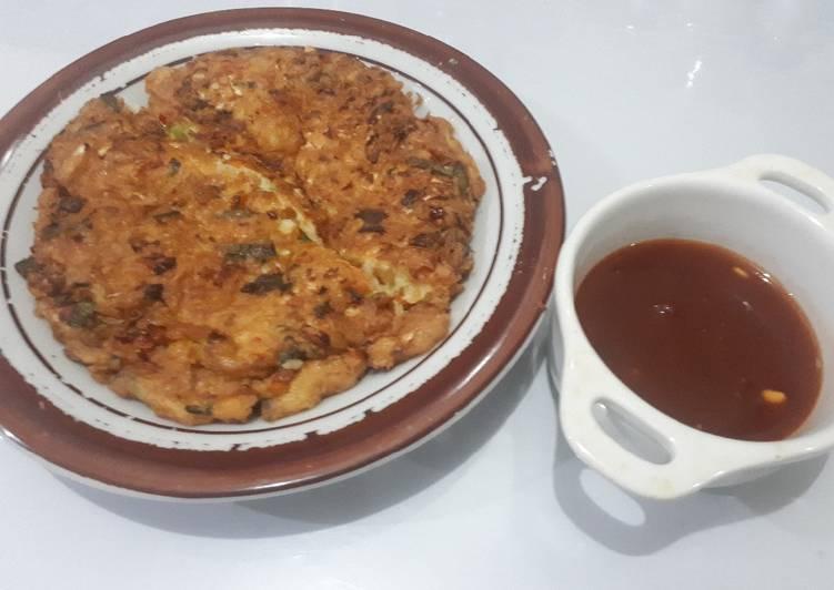 Cara mengolah Fuyunghai isi sayuran simple dan enak