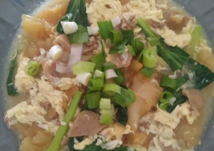 Cara memasak Kwetiaw siram daging cincang enak