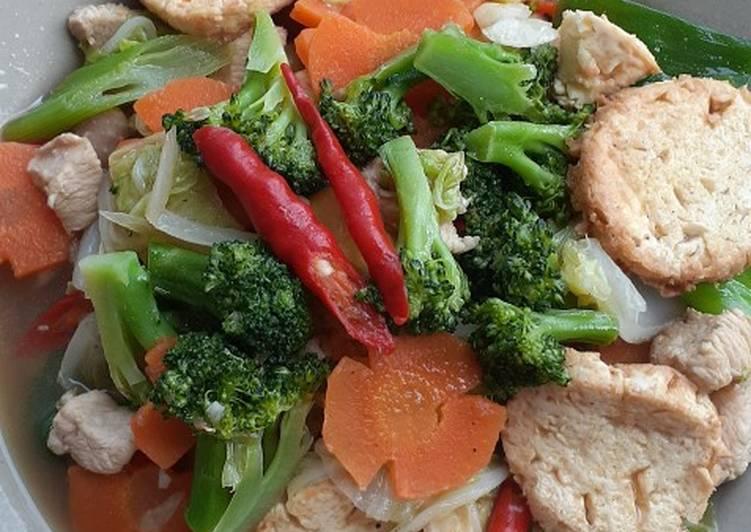 Cara memasak Sapo tahu Ayam