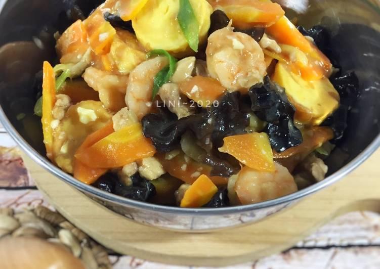 Resep: Sapo Tahu ayam udang - resep asian food