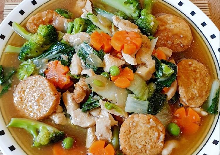 Cara Mudah memasak Sapo tahu ayam