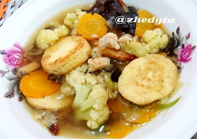 Cara Mudah memasak Sapo tahu udang
