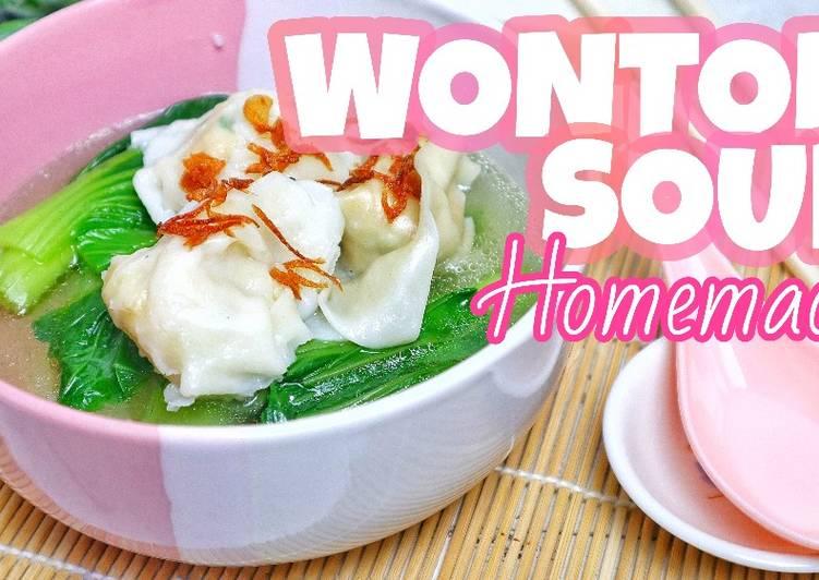 Cara Mudah memasak WONTON SOUP RUMAHAN   Segar dan Gurih