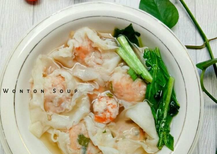 Resep mengolah Wonton soup enak