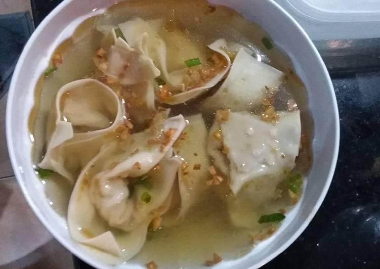 Resep: Wonton soup udang ayam