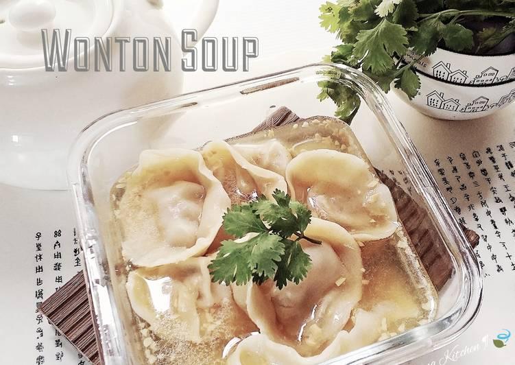Cara membuat Soup Pangsit Udang Ayam🦐🐣(Wonton soup)