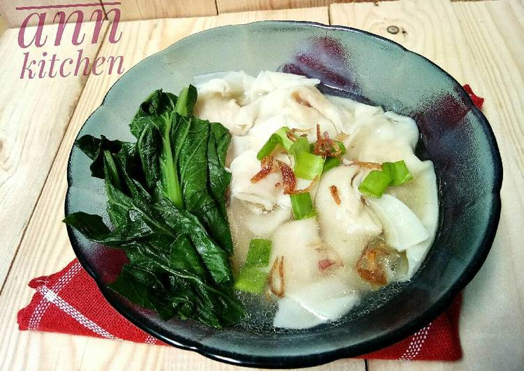 Cara membuat Wonton soup/sup pangsit/pangsit rebus #pr_asianfood enak