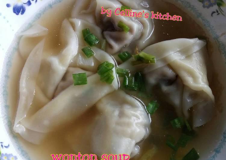 Resep: Wonton soup enak