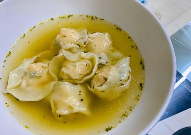 Resep memasak Wonton soup
