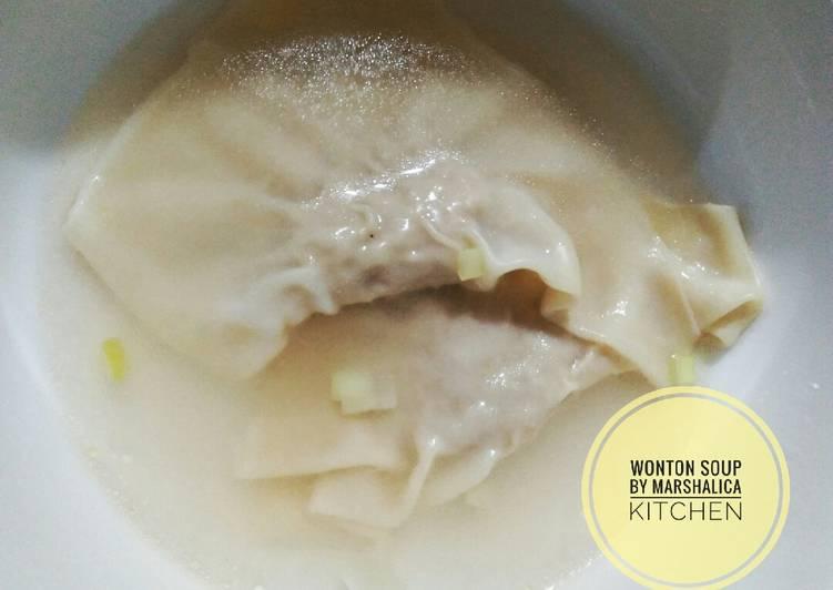 Resep: Wonton soup, mudah & enak
