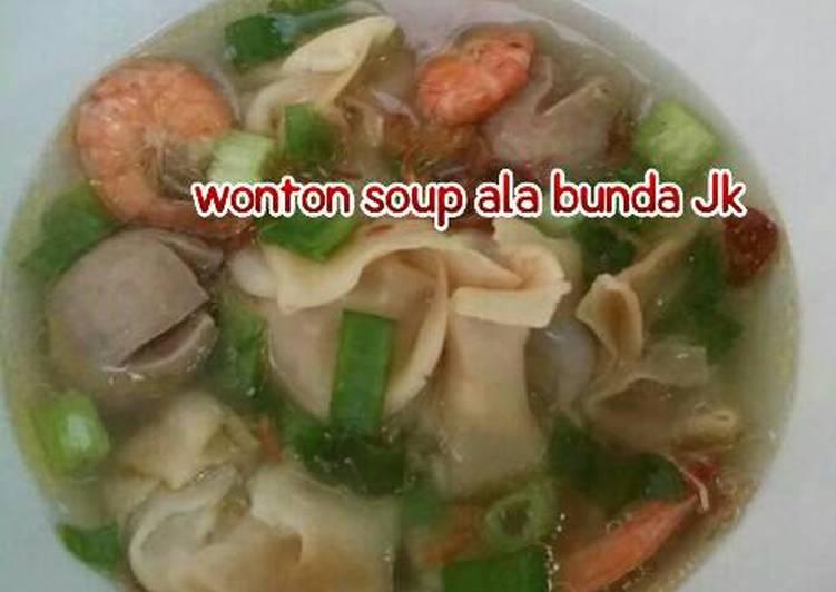 Cara mengolah Wonton soup ala bunda Jkb 😊