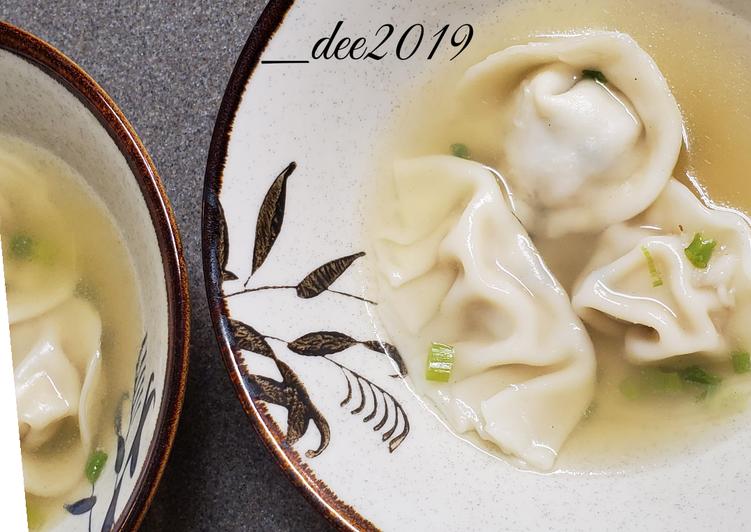 Cara Mudah membuat #7 Wonton soup