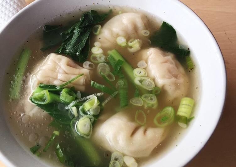 Cara Mudah membuat Wonton soup lezat