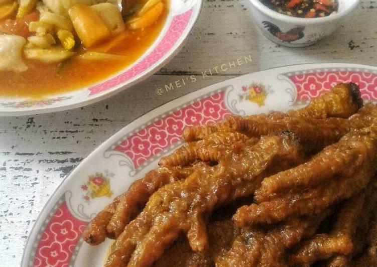 Resep: CEKER AYAM BUMBU KENCUR ala Mei's Kitchen enak