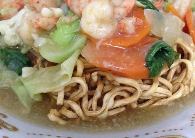 Cara memasak Ifumie siram seafood