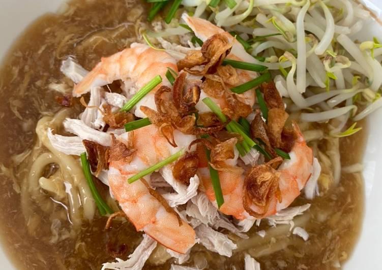 Cara Mudah memasak Lomie Udang & Ayam lezat