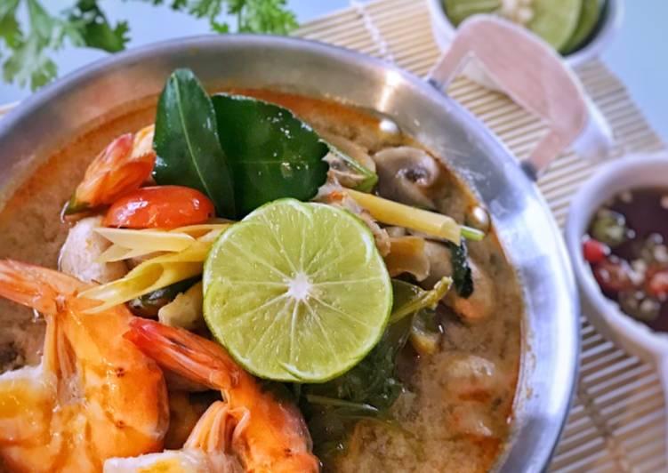 Resep membuat Tom yum udang ala thailand