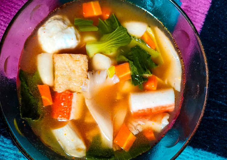Cara memasak Sup Tomyam rumahan enak