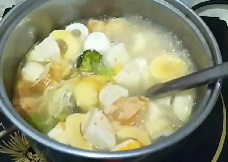 Resep: Tomyam brokoli baso ikan ala ala tanpa MSG istimewa