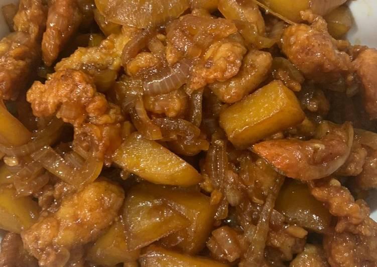 Resep memasak Ayam kluyuk saos mentega