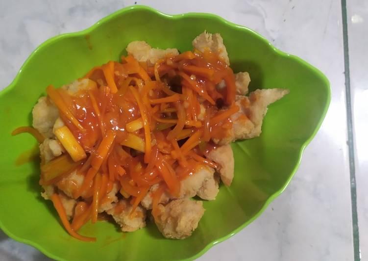 Resep memasak Ayam asam manis (ayam kuluyuk)
