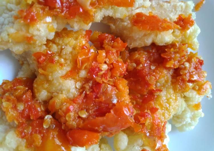 Resep: Koloke ayam sambal geprek istimewa