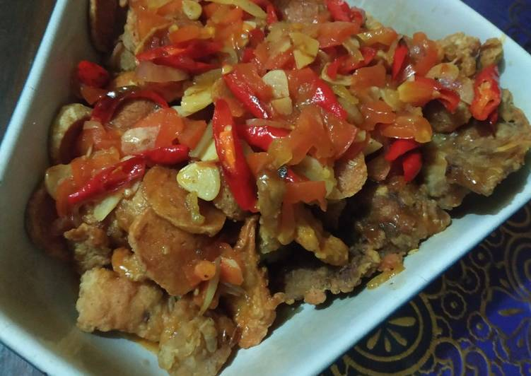Cara Mudah membuat 24.Ayam bakso koloke lezat