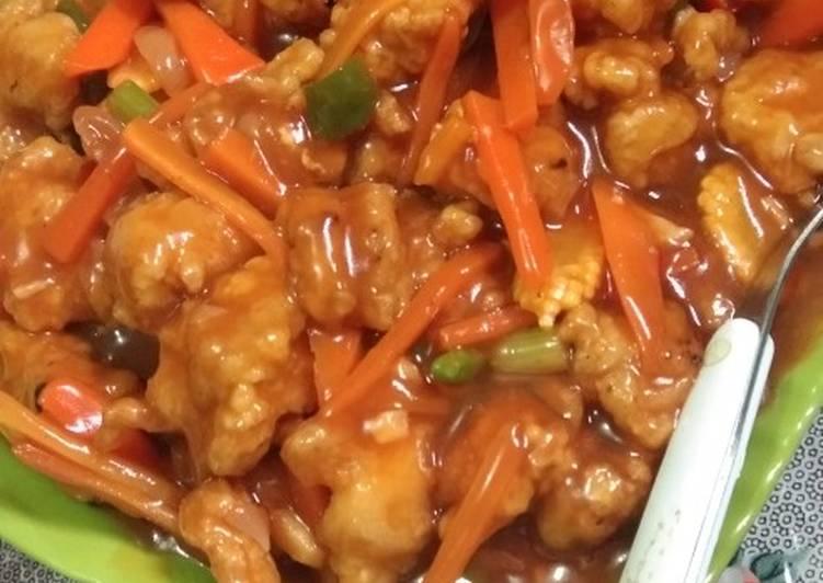 Resep: Koloke (ayam goreng tepung saos) enak