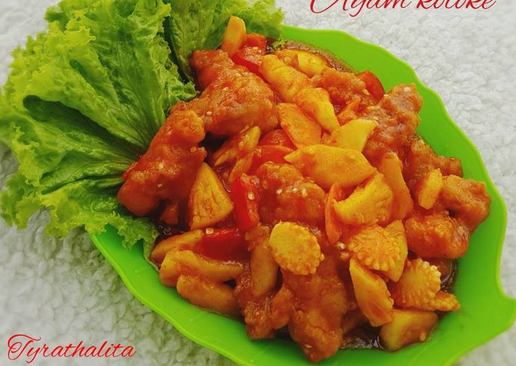Resep: Ayam tepung pedas asam manis/ ayam koloke istimewa