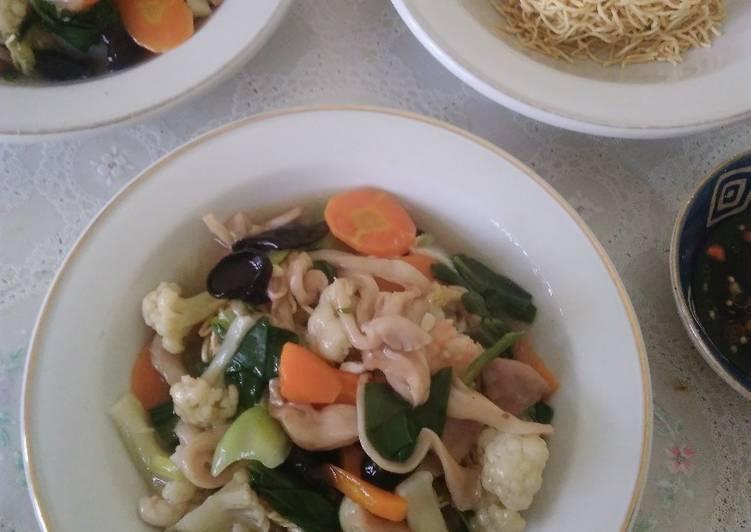 Resep: Tamie goreng capjay ala mama (dengan jamur tiram ^^)