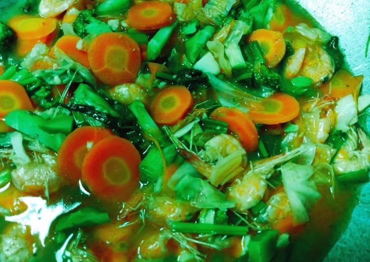Resep memasak Capjay goreng udang
