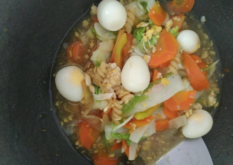 Resep membuat Capjay sayur telur sederhana kesukaan anak lezat