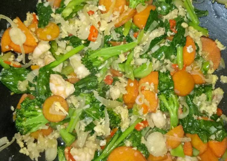 Cara Mudah membuat Capjay sayur udang