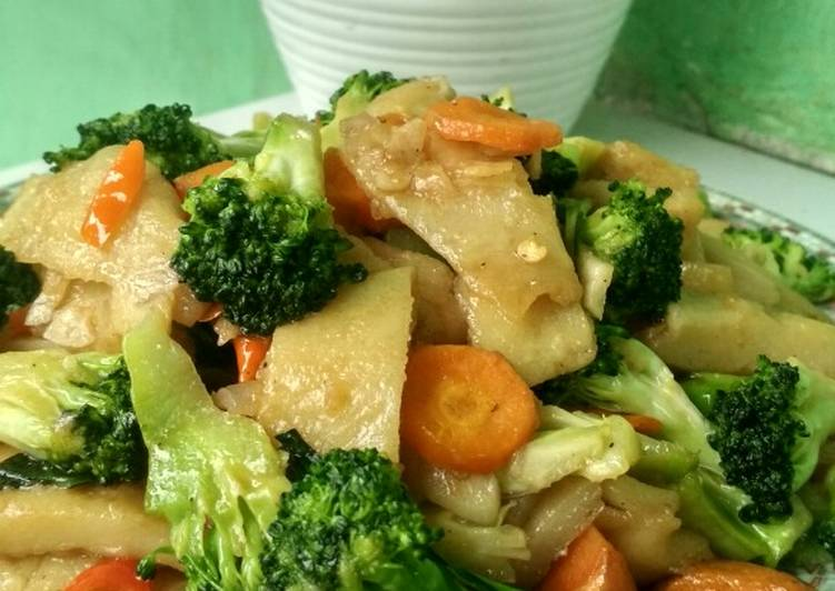 Resep memasak Cap cay brokoli sauri enak