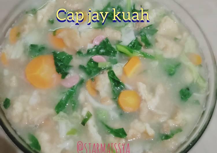 Cara membuat Cap cay kuah