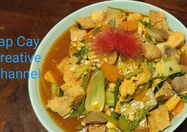 Cara memasak Cap Cai atau Cap Cay versi Goreng Merah (tumis aneka sayuran)