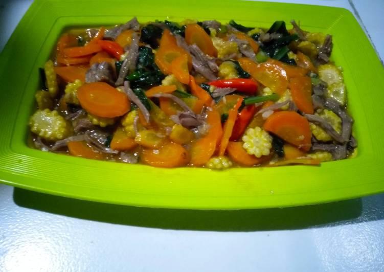 Cara mengolah Cap cay daging sayur simple enak