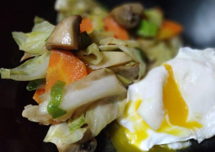 Resep: Cap cay telur lava istimewa